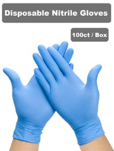 Load image into Gallery viewer, Disposable Nitrile Gloves Powder Free (Box of 100)