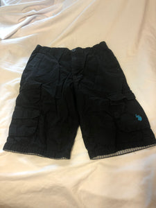 U.S. POLO ASSN. Black Cargo Shorts, Size 16