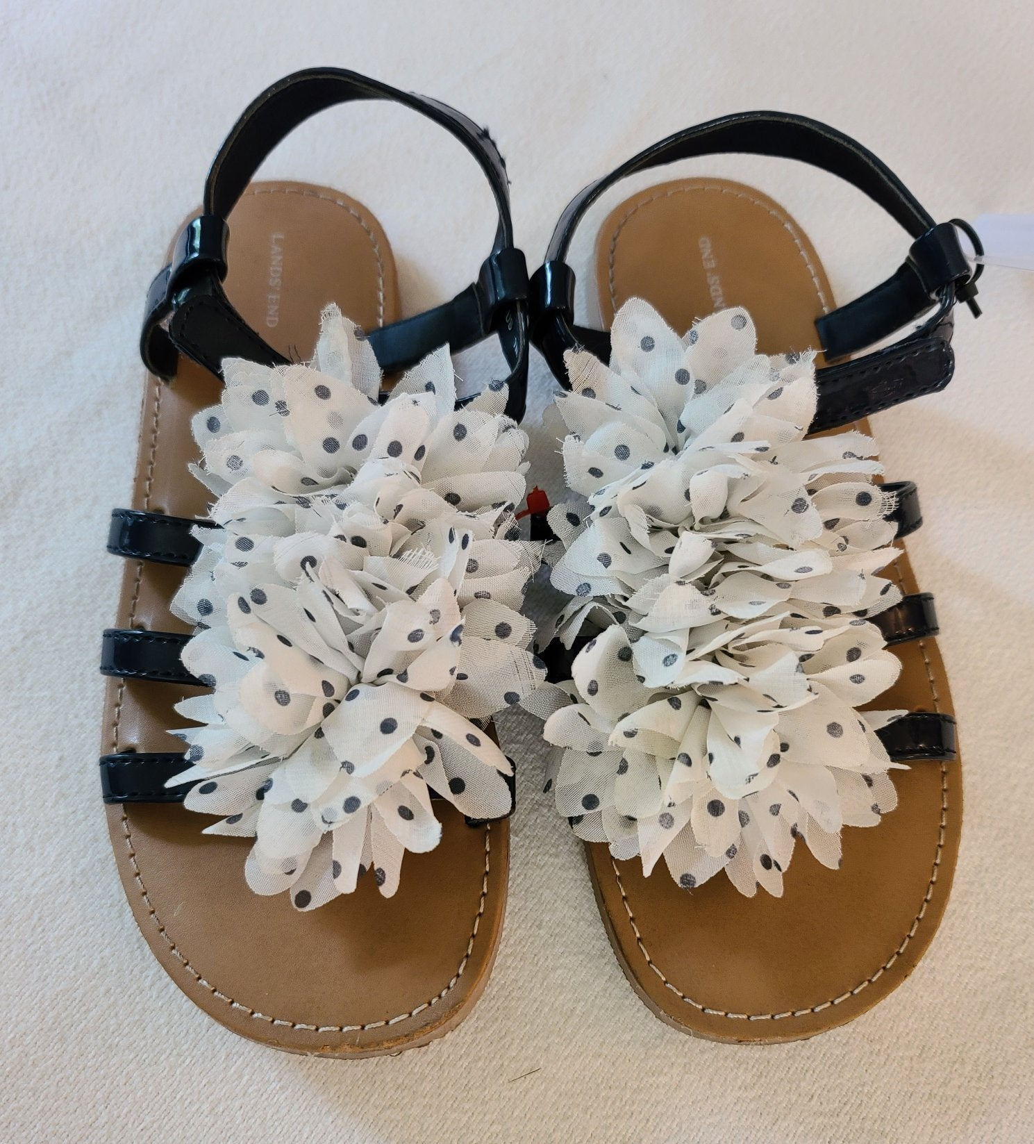 "LANDS ENDS ""Arabella"" Girls Sandals SIZES 1, 2, and 3"
