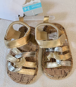 *NWT* CARTERS sandals, Infant Girls Size 3-6 months