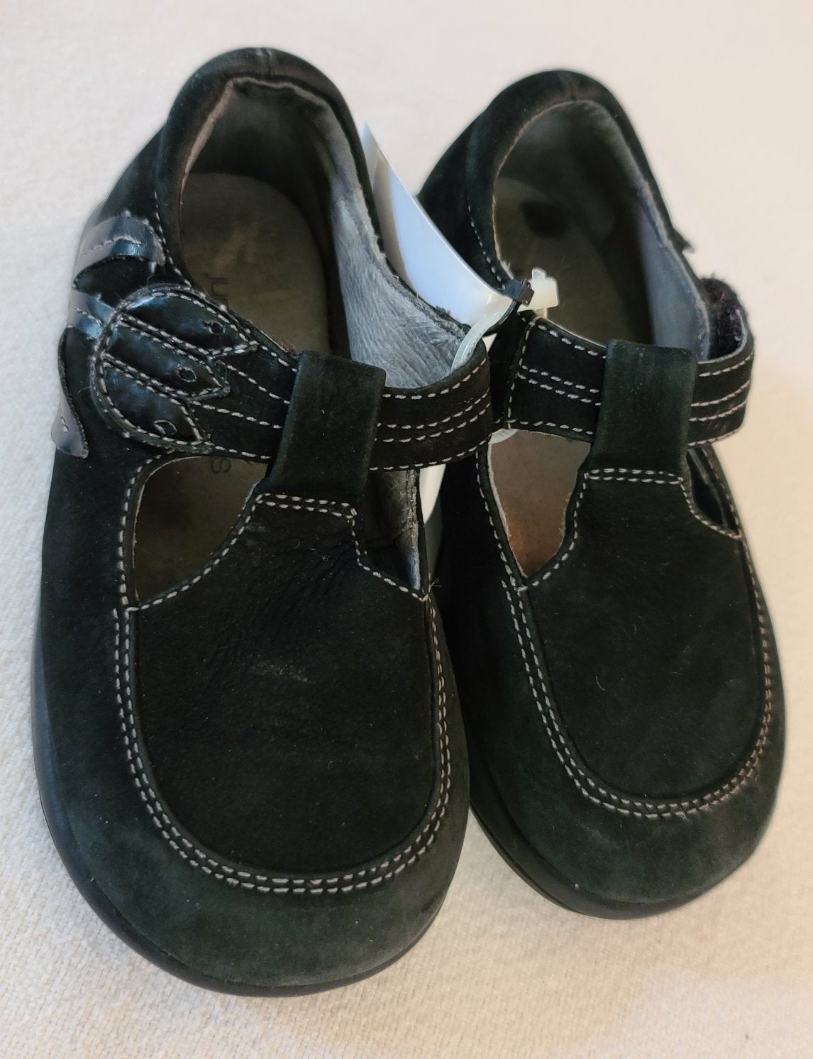 JUMPING JACKS Suede Dress shoes, Toddler girls size 6