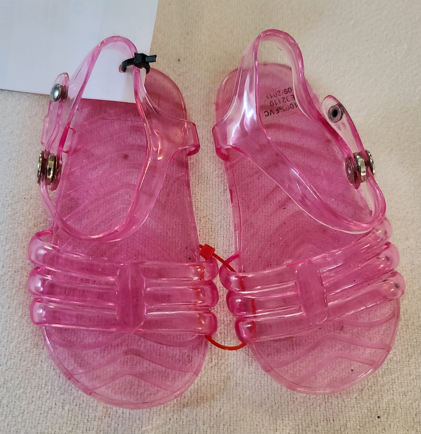 Pink jelly sandals, Infant girls size 6-12 months