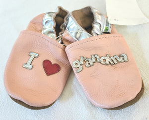 AUGUSTA BABY leather booties, Infant girls size 18-24 months