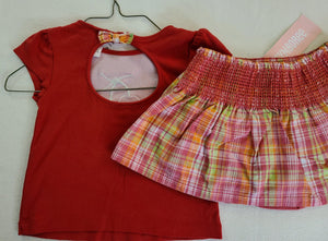 GYMBOREE 2 pc set, tank top and *NWT* skirt; Girls size 18-24 months