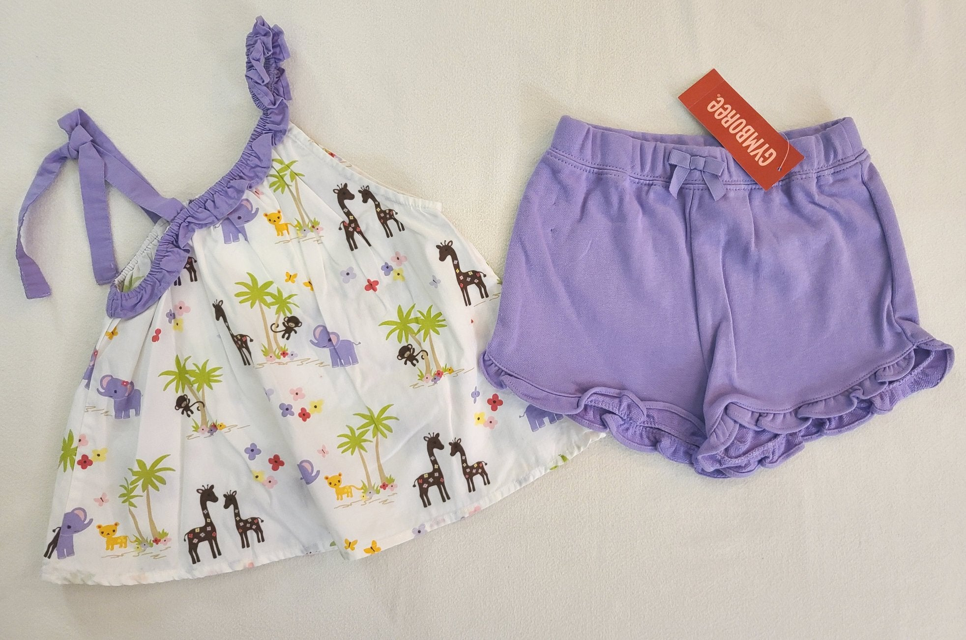 GYMBOREE 2 pc set - tank top & *NWT* shorts; Girls size 3T