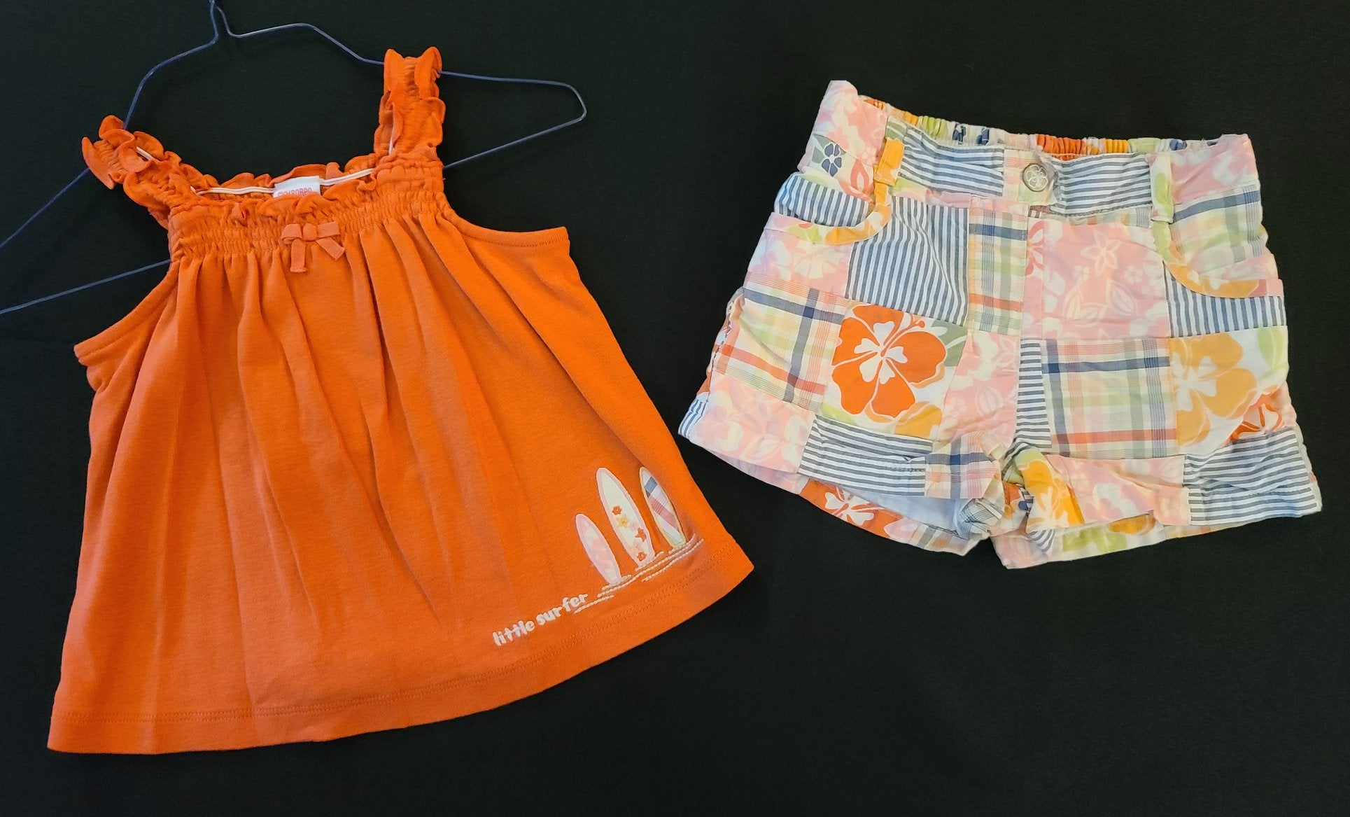 GYMBOREE 2 pc set - tank top & shorts; infant girls size 18-24 months