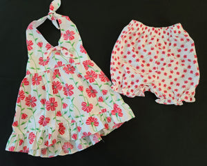 PENELOPE MACK 2 pc set - halter top & bloomer shorts; Girls Size 24 months