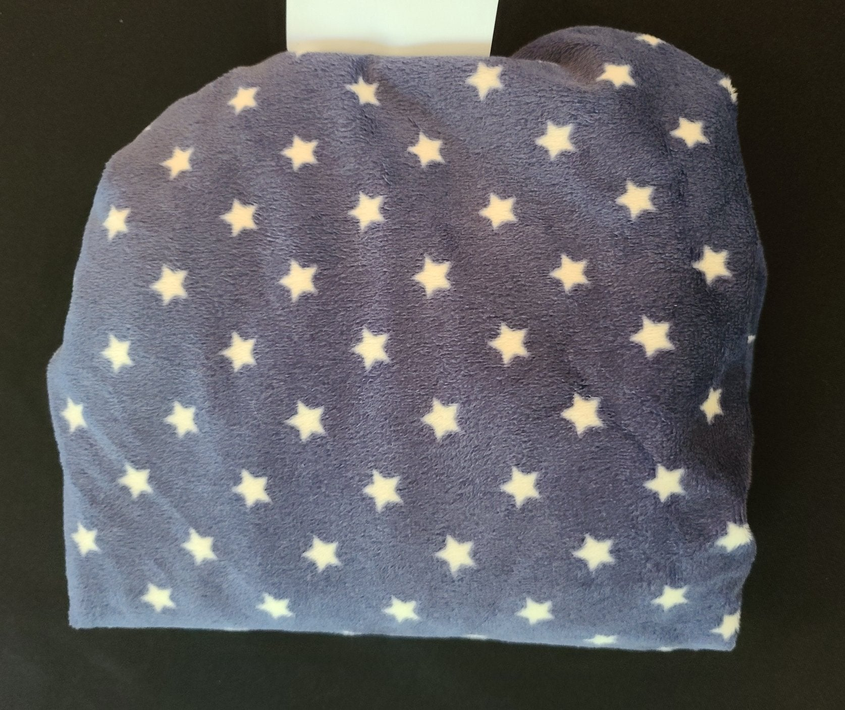 COCALO BABY Plush changing pad cover; blue w/ stars