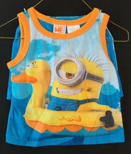 DESPICABLE ME 2 pc bundle - shorts pajamas; boys 2T