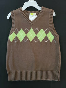 CRAZY 8 brown sweater vest, Boys 4