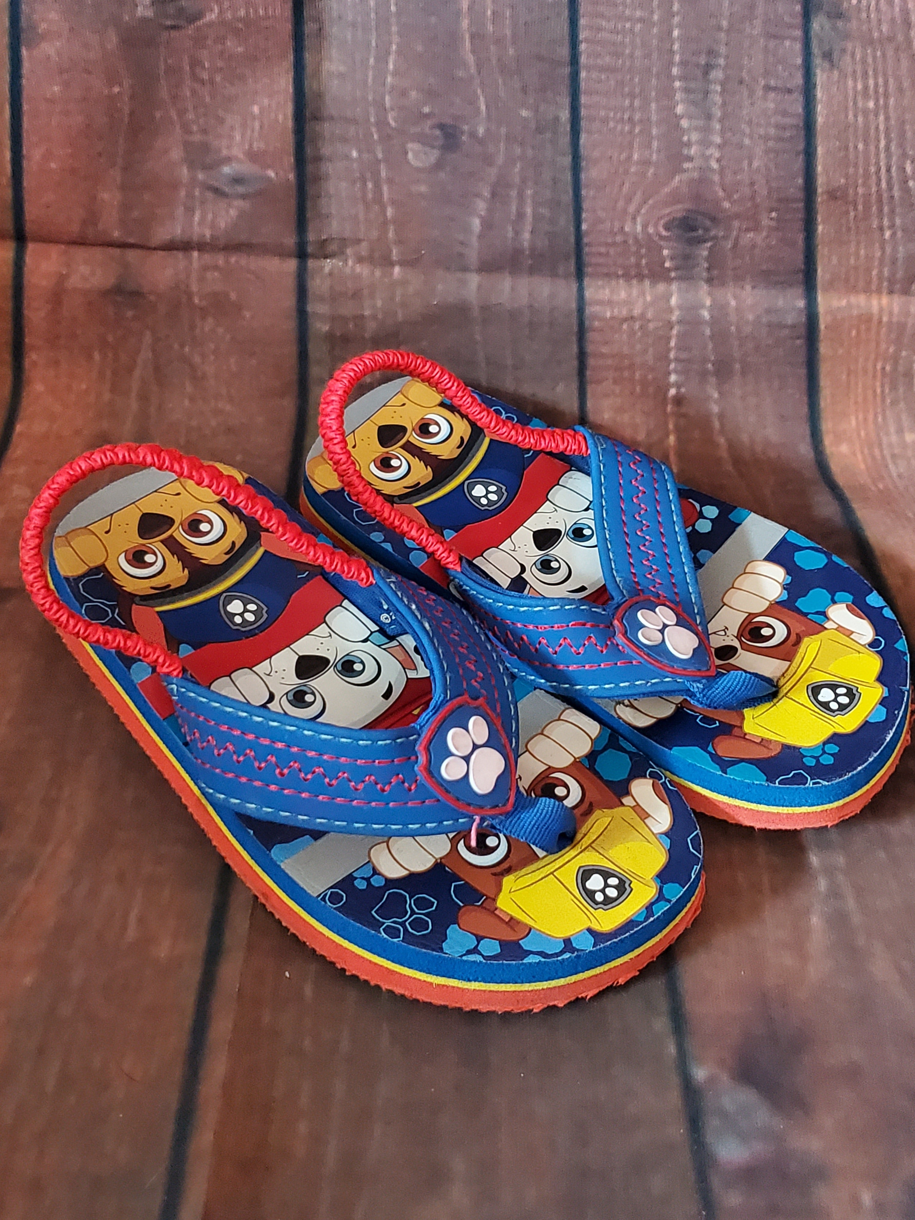 7/8 Little Boys Paw patrol flip flops