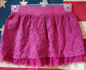 FADED GLORY size 7/8 flower lace skirt