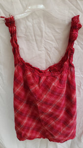 OP Size xl juniors pink plaid tanktop