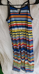 NICKIE LEW Size 10 juniors spaghetti strap long striped dress
