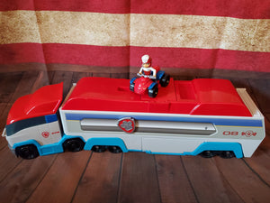 LARGE Paw Patroller rescue & Transport Vehicle makes noise and opens up