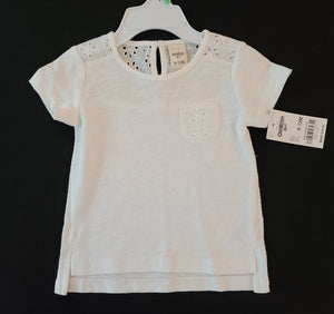 *NWT* OSHKOSH short sleeve shirt; Girls 9-12m
