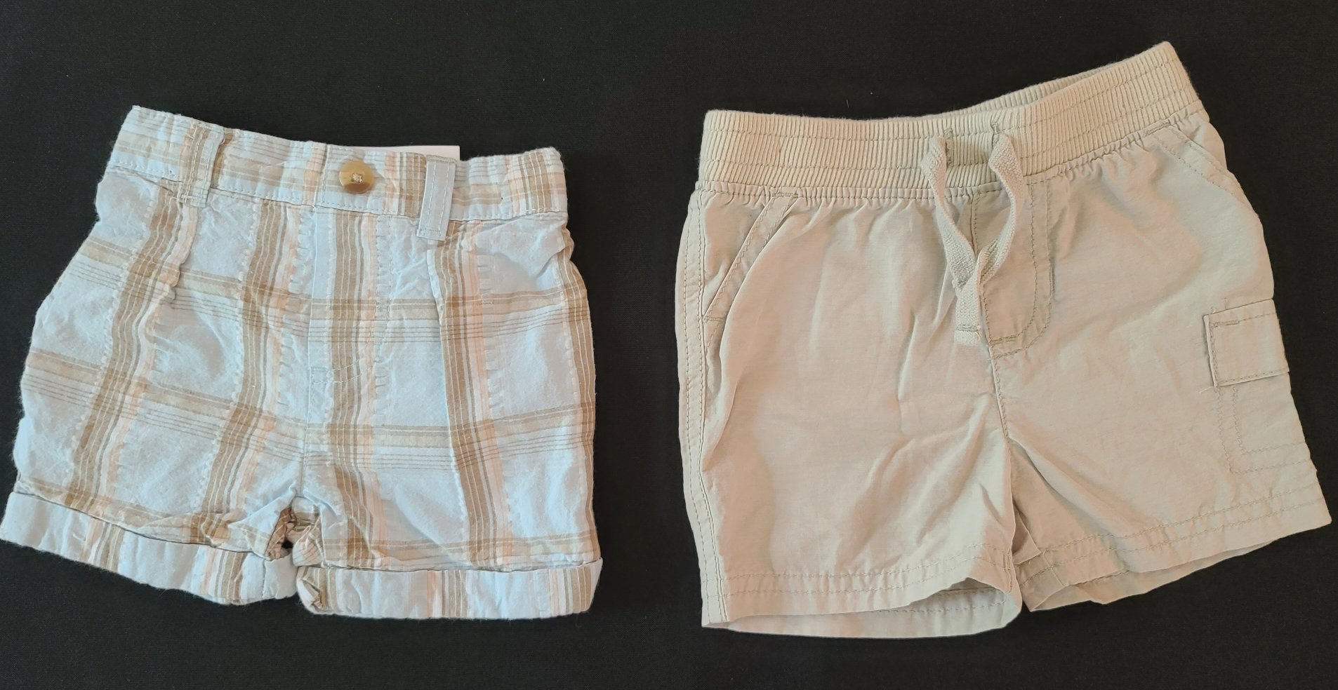 2 pc bundle shorts - FIRST MOMENTS & JUMPING BEANS; Boys 3-6m