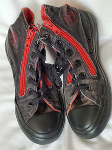 CONVERSE SIZE 13 RED & BLACK HIGHTOPS
