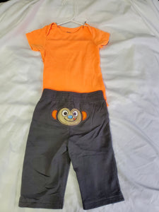 2 pc set Onesie & Pants Boys 9 mo