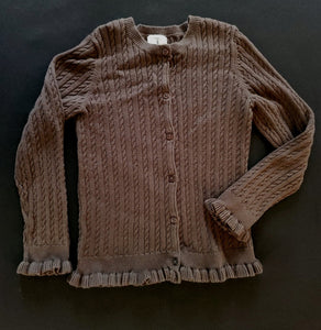 LANDS END cardigan sweater; Girls 6x