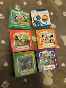 Tiny board books 6 PC bundle - Mickey,Thomas, Baby Einstein's