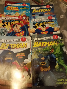 Superhero 1st reader books. 6 pack.