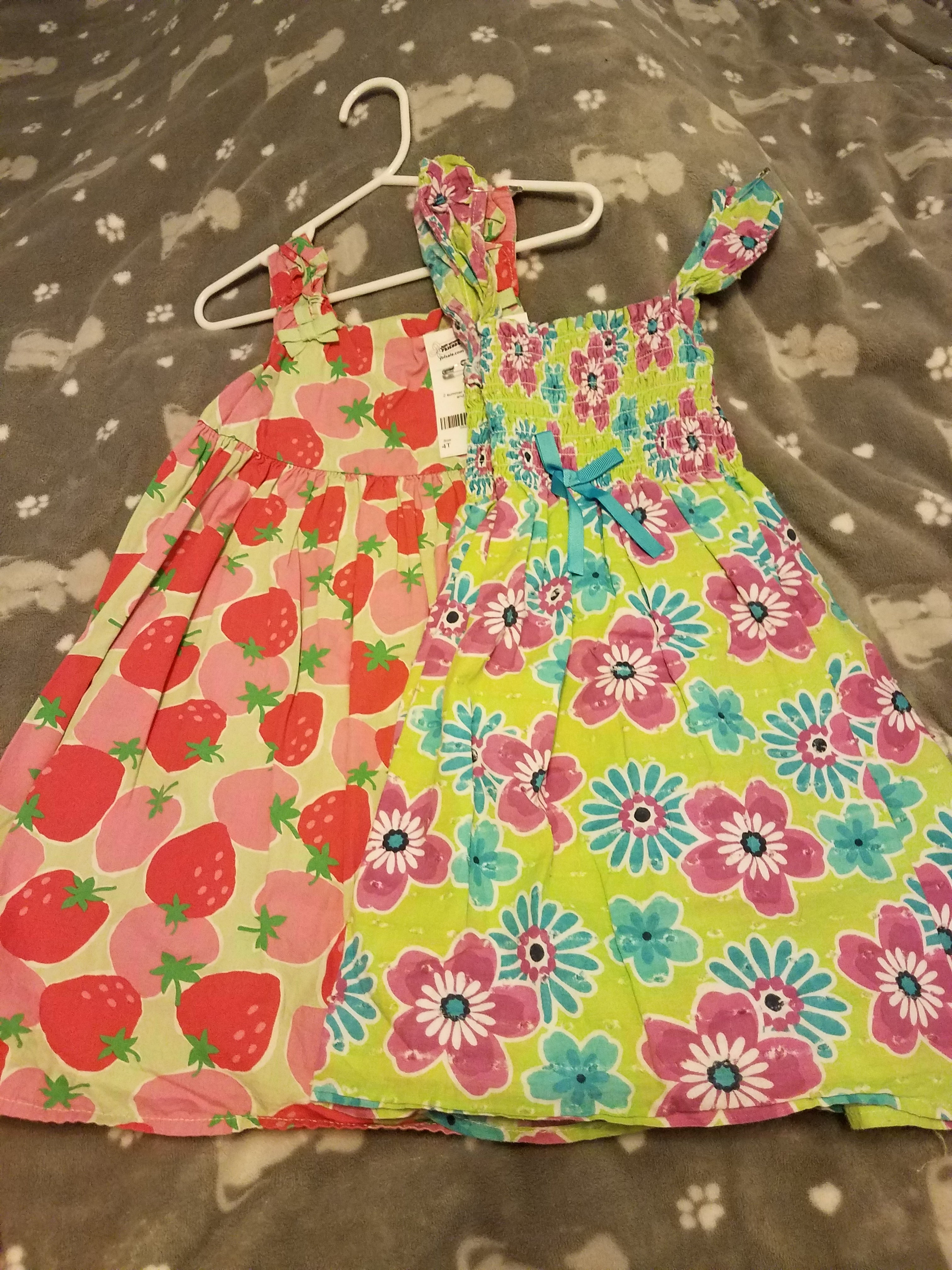 Girls 2 PC 4t sundresses- Gymboree and Real Love