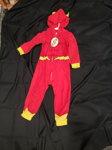 Red the Flash size 4/5 one piece pajamas