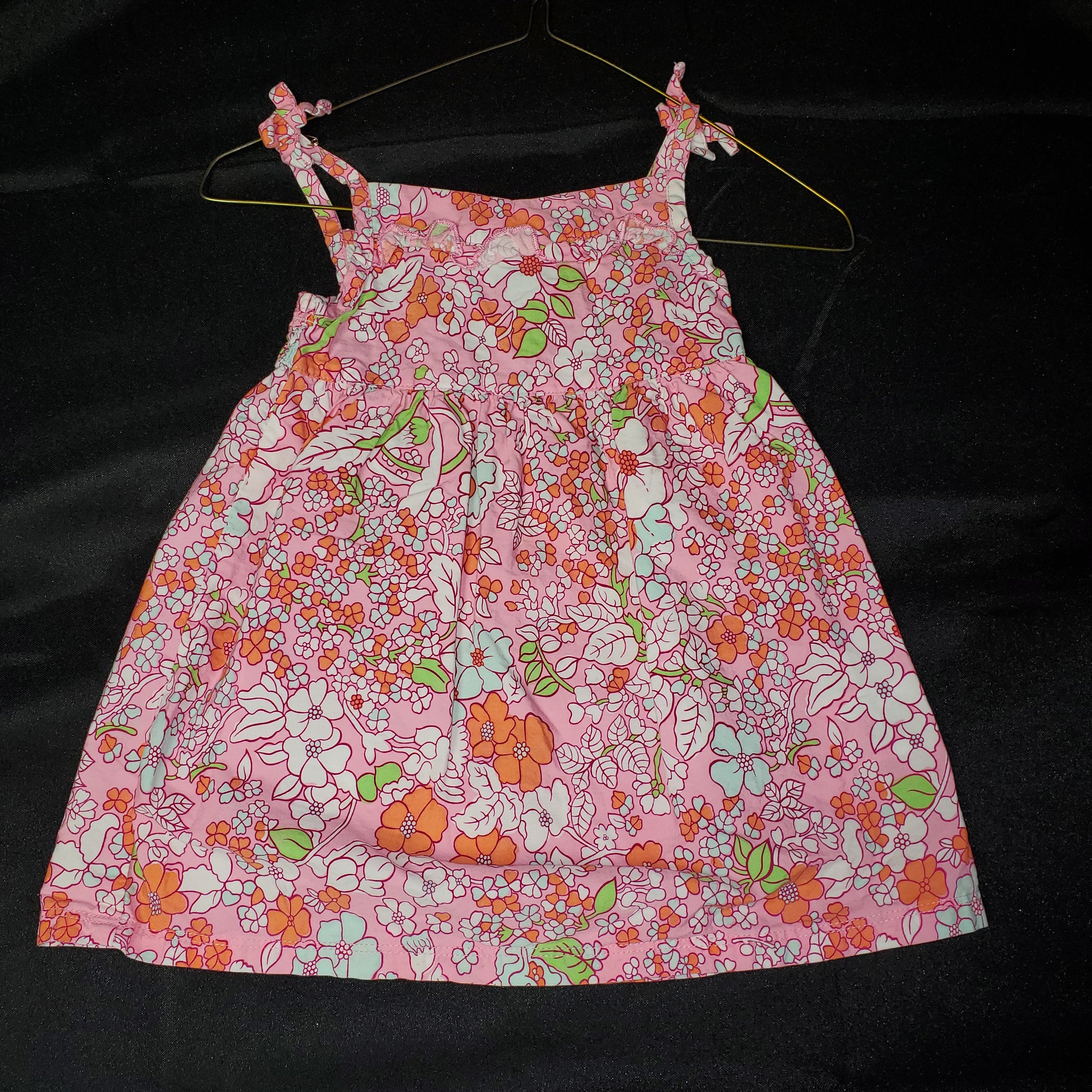 Faded Glory Sun Dress Pink Floral Girls 18 mo