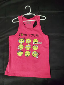 Faded Glory Tank Top Pink Girls 10-12