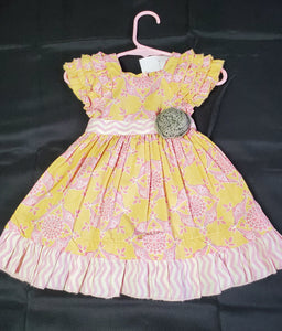 Mustard Pie Yellow/Pink Dress Girls 12 mo