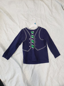 Little Me 4T blue long sleeve shirt