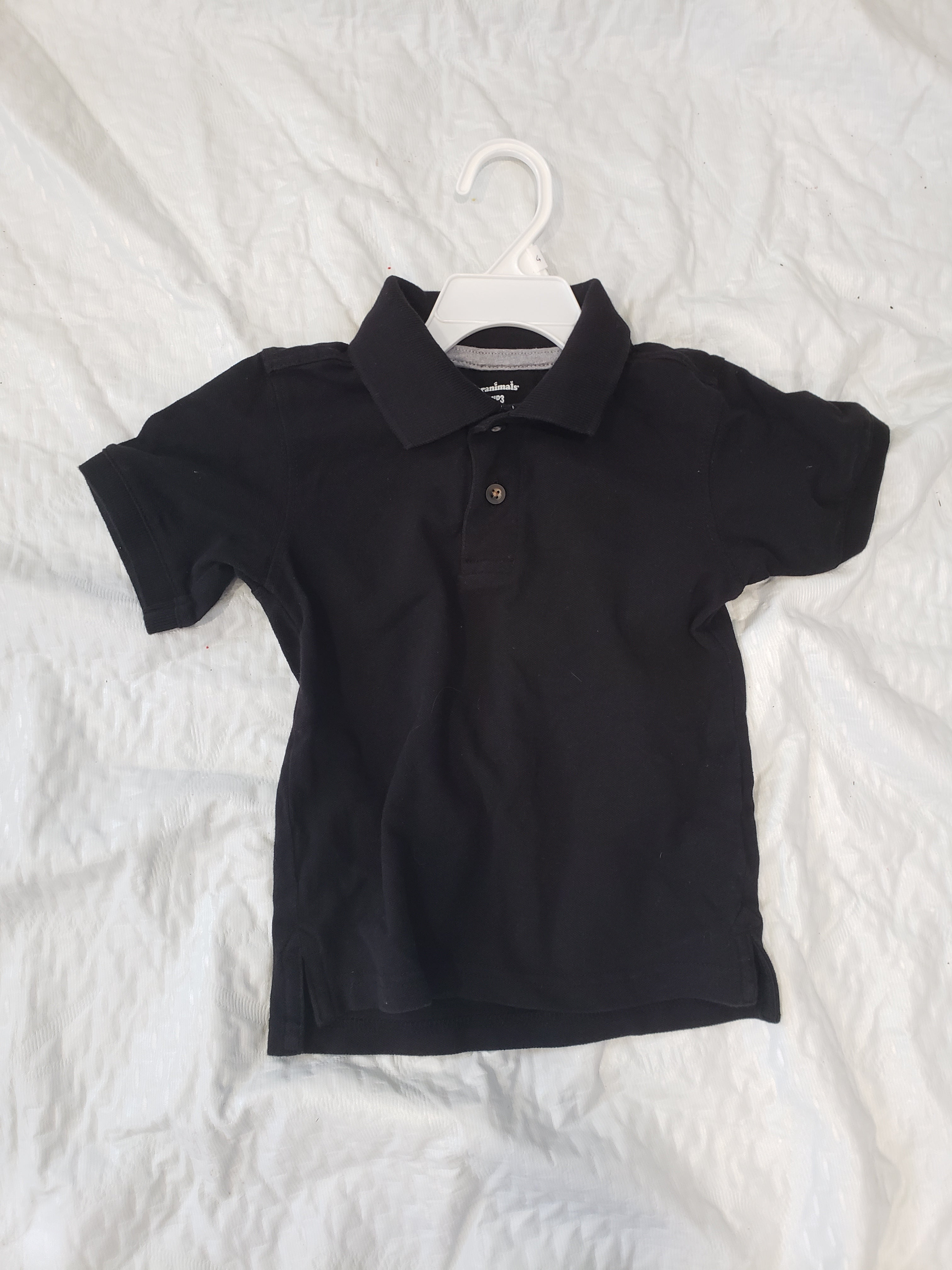 Garanimals boys 3T black polo shirt