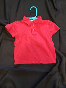 Jumping bean 3T red polo shirt