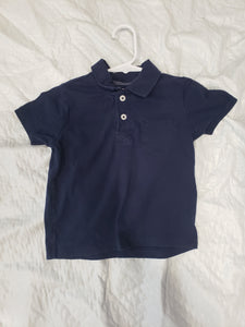 Cherokee 3T blue polo shirt