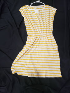 new with tags. H&M juniors size small yellow and white striped dress
