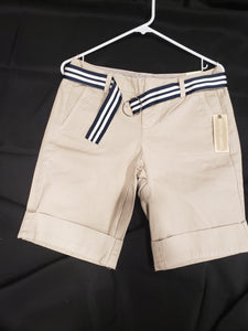 New with tags Tommy Hilfiger juniors size 4 tan shorts with belt