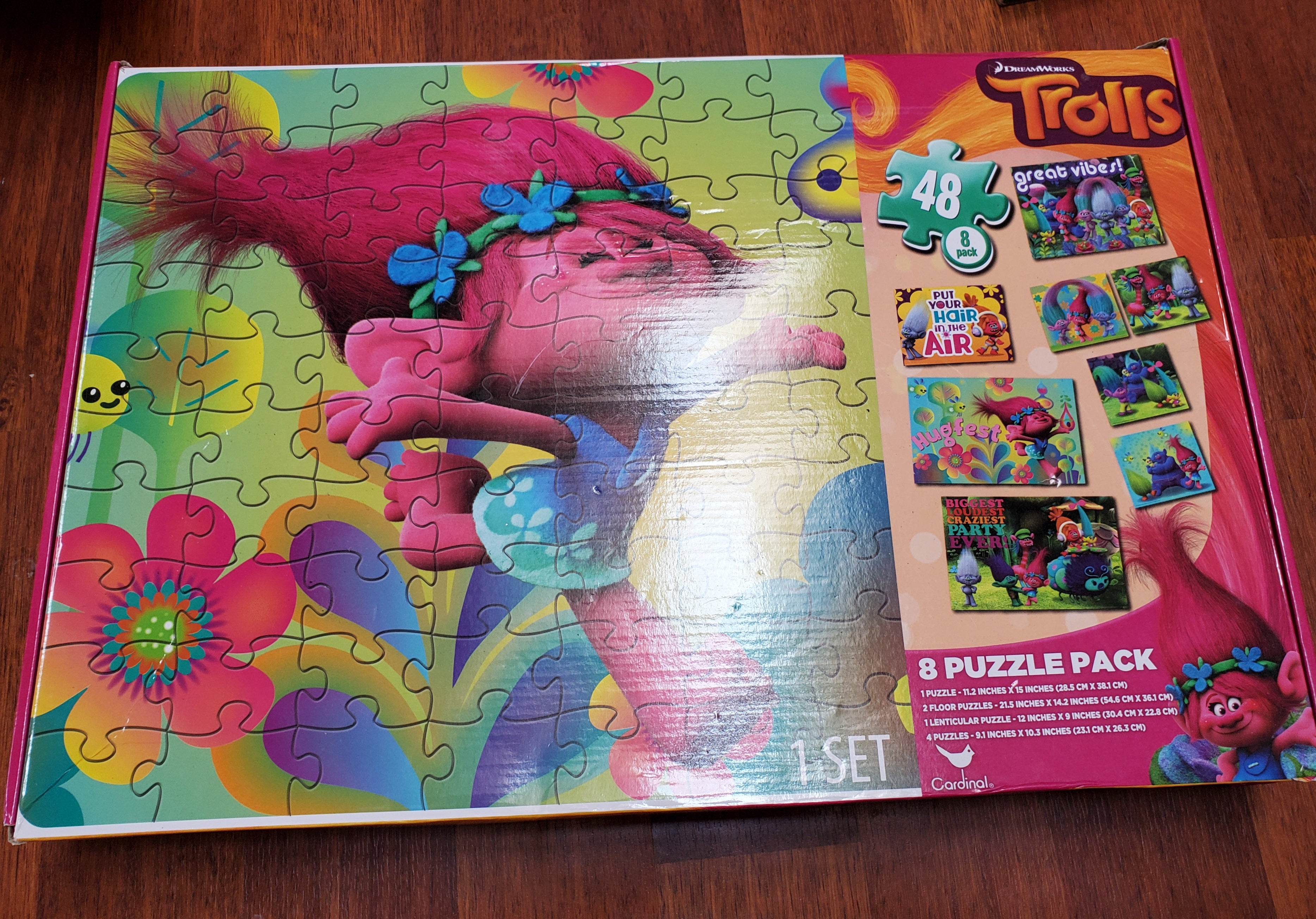Trolls 8 Puzzle pack ONLY 1 PUZZLE OPENED others new in package