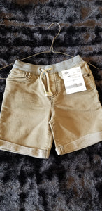 CAT AND JACK olive green shorts w/grey waist, boys 4t