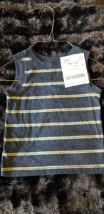 OLD NAVY blue striped tank, boys 12 to 18m