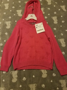 Pink Epic Threads size 5 heart lightweight hoodie cardigan