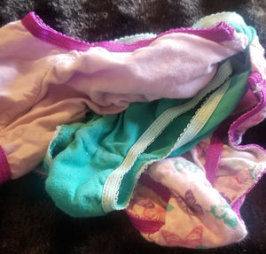 GARANIMALS 3pk undies: pink w/butterflies, teal & purple girls 4/5