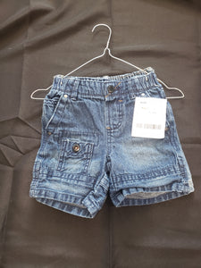 2 pairs of size 18mo jean shorts