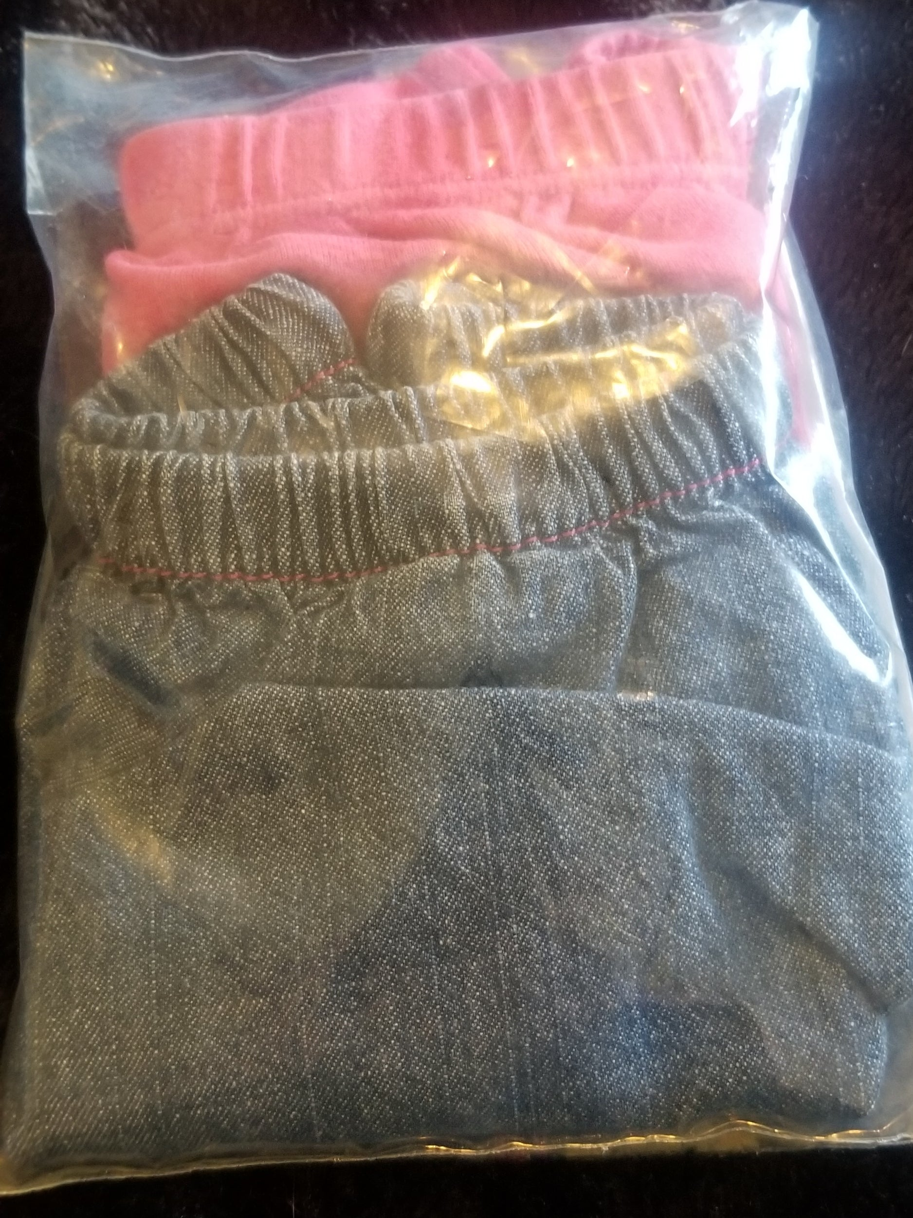 CHILD OF MINE pink bloomers and SMALL WONDERS denim bloomers girls 6-9m