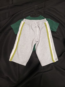 2 piece 24 mo outfit. Green shirt and grey pants