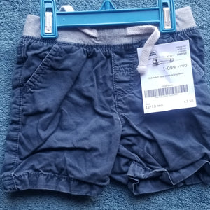 OLD NAVY blue shorts with gray waist boys 12-18m