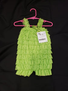 Size 18mo green sleeveless lace romper