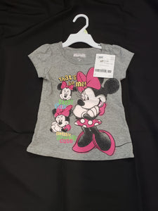 Grey 4T Minnie Mouse shirt