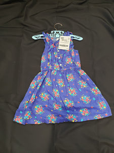 Carter's 4T blue sleeveless dress with flowers