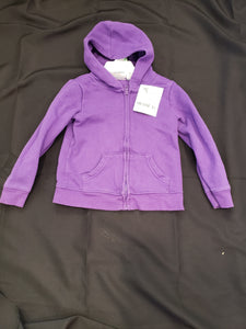 Jumping bean 4T purple zip up hoodie